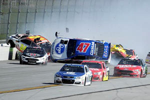 NASCAR Race Erupts Into Crazy 18-Car Pileup At Talladega