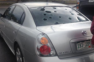 Huge Hail Storm Batters Cars In Colorado Shattering Windshields