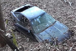 This Poor Toyota Supra Was Left To Rot On A Mountain In Japan