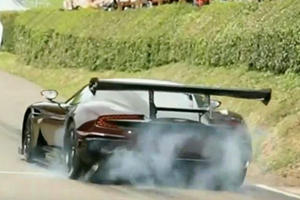 Watch A $2.3 Million Aston Martin Vulcan Pulverize Its Rear Tires For Fun
