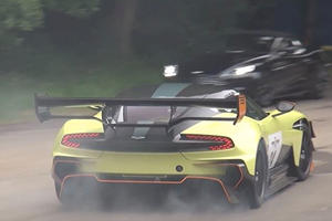 Watch The Aston Martin Vulcan AMR Pro Tear Up Its Tires At Goodwood