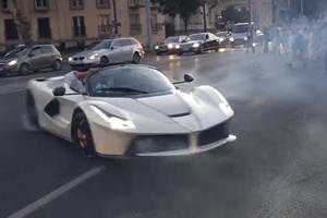Watch A LaFerrari Aperta Do Dangerous Donuts At Gumball 3000