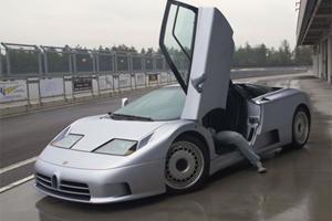 Watch A Pair Of Bugatti EB 110 Prototypes Plow Through Snow