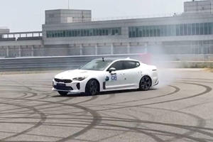 Watch A Stock Kia Stinger Show Us That It's Capable Of Drift Competitions