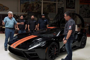 Watch Jay Leno's New Ford GT Get A Protective Wrap Job