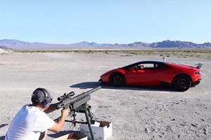 Firing A 20 MM Bullet Through A Lamborghini Is Totally Normal, Right?
