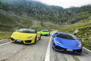 Six Lamborghini Huracans Tackled World's Most Beautiful Driving Road