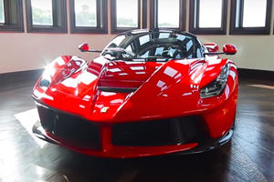 Watch A LaFerrari Aperta Get Detailed In An Insanely Cool Garage