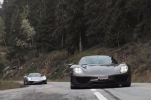 A Gathering Of 19 Porsche 918 Spyders In The Alps Is Sublime
