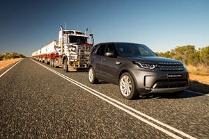 Watch The New Land Rover Discovery Tow A 110-Ton Road Train