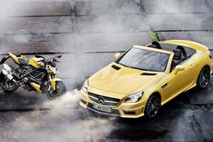 Mercedes SLK 55 AMG & Ducati Streetfighter 848 Highlight Coalition