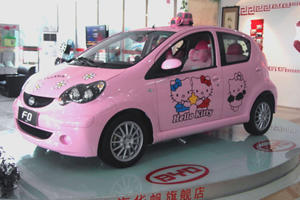 Sweet Jesus What is That? The Hello Kitty Car in China