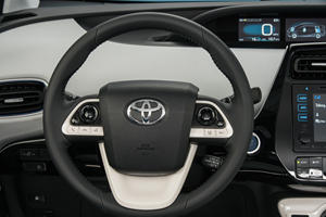 2017 Toyota Prius Three 4dr Hatchback Steering Wheel Detail