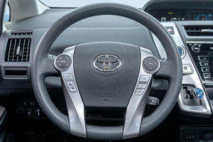 2017 Toyota Prius v Five Wagon Steering Wheel Detail Shown