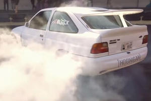 Watch Ken Block Burn Some Serious Rubber In A Retro Rally Car