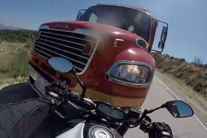 GoPro Captures Biker's Headfirst Crash Into A Fire Truck And The Aftermath