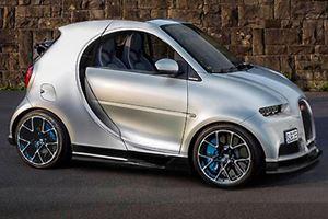 This Bugatti Chiron Smart Car Mash-Up Is Beyond Disturbing
