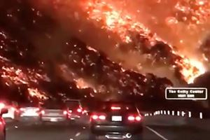LA Drivers Faced Terrifying Commute Through Fire This Morning