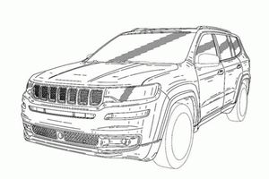 Jeep Grand Commander Revealed In Leaked Patent Images