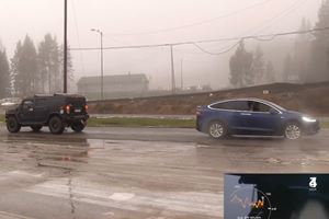Model X Vs Hummer H2 Tug Of War Because After This You'll Have Seen Everything