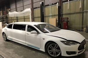 Nobody Wanted To Buy This Incomplete Tesla Model S Stretch Limo