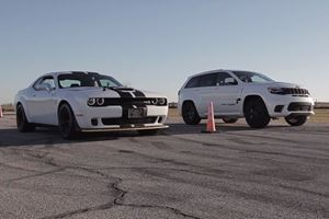 Jeep Trackhawk Vs. Challenger Hellcat Is A Crazy 1,400-HP Drag Race