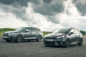Can You Predict The Outcome Of A Ford Focus RS Vs Audi SQ7 Drag Race?