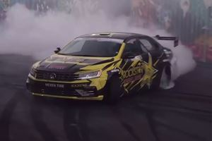 Watch Tanner Foust Torture The Tires Of His 900-HP Passat Drift Car