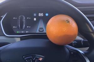 This Guy Used An Orange To Fool His Tesla Autopilot