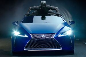 2018 Lexus LC 500 Stars In Action-Packed Black Panther Car Chase Clip