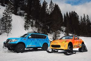 "Meet The Nissan Armada Snow Patrol And One-Off 370Zki ""Snowmobile"""