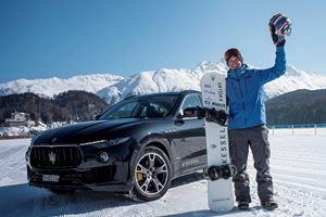 Maserati Levante Helps Snowboarder Break Insane Speed Record