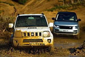 A $20,000 Suzuki Jimny Can Hold Its Own Against A $170,000 Range Rover