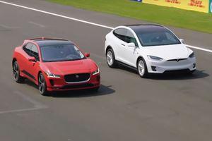 Watch Jaguar's Cringeworthy I-Pace Versus Tesla Model X Comparison Video
