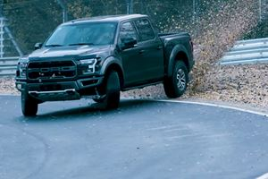 This Is How You Drift A Ford F-150 Raptor Around The Ring