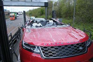 Transporter Crash Creates World's First Range Rover Velar Convertible