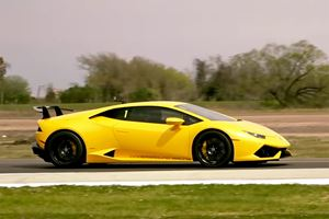 3500-HP Lamborghini Huracan Hits 230 MPH In Half-Mile Run