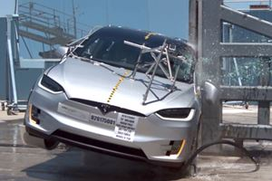 Watch The Tesla Model X Stubbornly Refuse To Roll Over