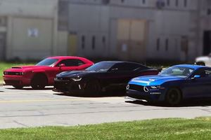Clarkson, May, And Hammond Drive Three Badass Muscle Cars In Detroit