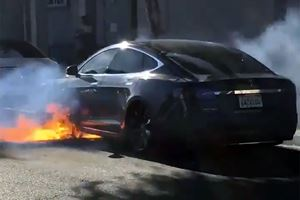 What Caused This Tesla Model S To Catch Fire While On The Move?