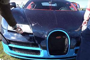 Watch A Bugatti Veyron Slam Into Barriers After Hitting 208 MPH
