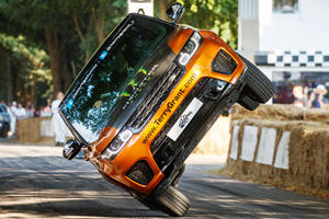 Watch A Range Rover Sport SVR Set A New World Record On Two Wheels