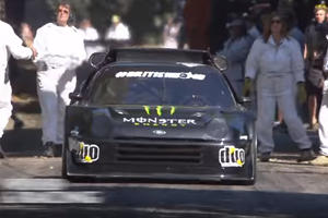 Ford RS200 Pikes Peak Car Wrecks At Goodwood After Bodywork Rips Off