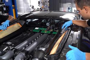 Regular Bugatti Veyron Maintenance Work Is Insanely Complex