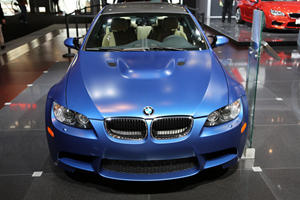 BMW Display Frozen Monte Carlo Blue M3 at NY Auto Show
