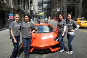 Lamborghini Aventador Hot Dog Cart Posts Up Outside NY Auto Show