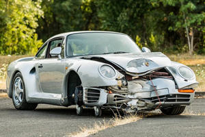 Mangled Porsche 959 Expected To Sell For Silly Money