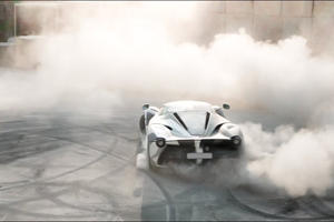 LaFerrari Dons Camouflage And Goes Drifting