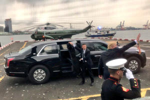 """The Beast"" Is Back: Check Out Trump's New Presidential Limo"