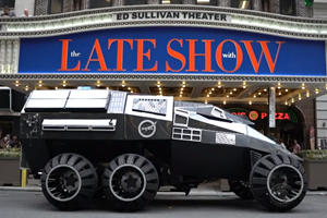 Stephen Colbert Takes Mars Rover For A Spin In New York
